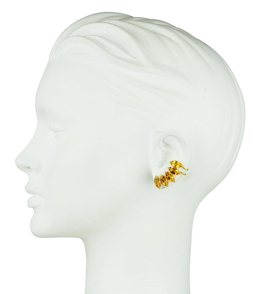 Clio Citrine Cuff Earrings