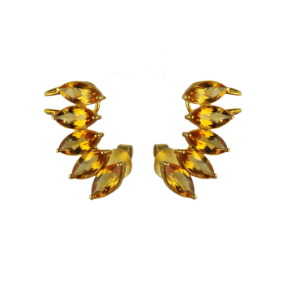 Clio Citrine Stud Earrings Katerina Psoma
