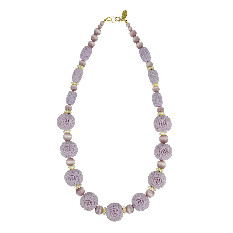 Katerina Psoma Necklace with Lilac Resin Beads