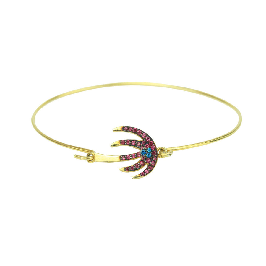 Palm Tree Gold Plated 925 Sterling Silver Charm Bracelet