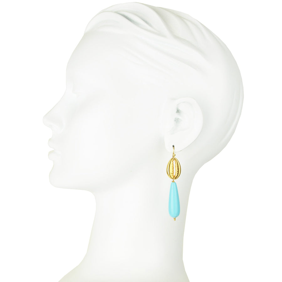 Miranta Turquoise Shell Earrings