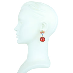 Lola Crystal and Red Resin Earrings