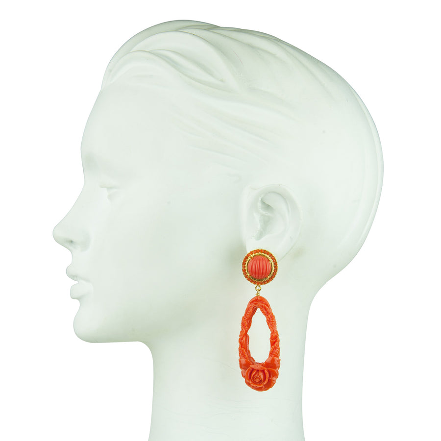 Orange Drop Earrings Katerina Psoma