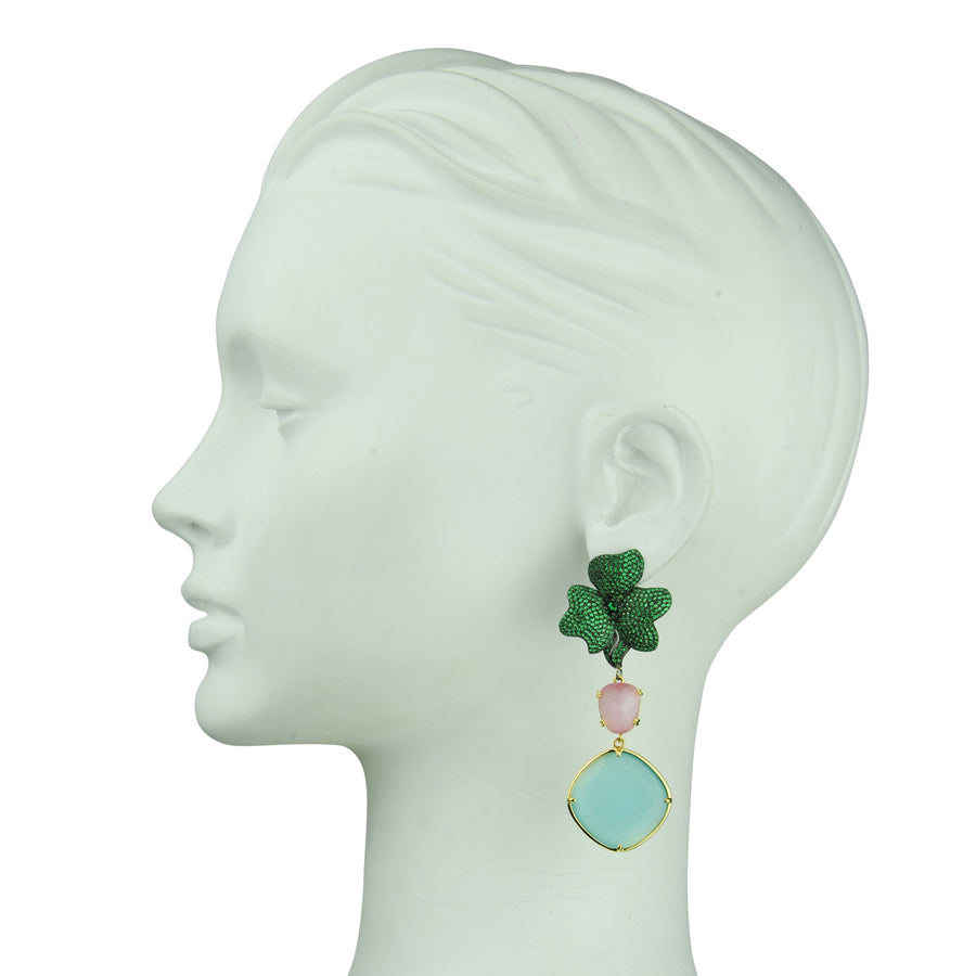 Antheia Green Dangle Earrings