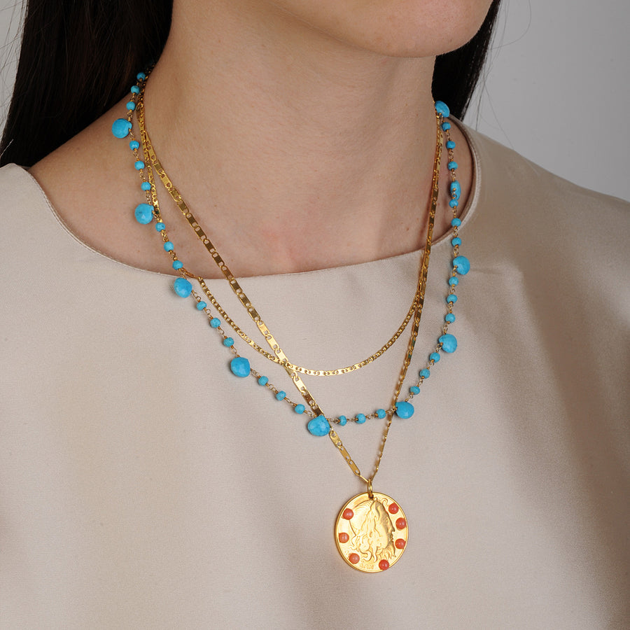 Amore Chain Necklace with Howlite