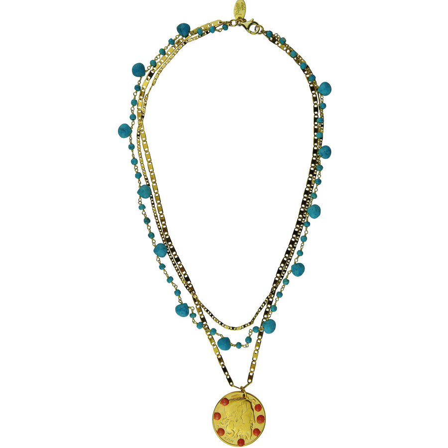 Amore Chain Necklace with Howlite Katerina Psoma