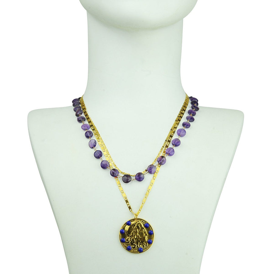 Chain Necklace with Amethyst Katerina Psoma
