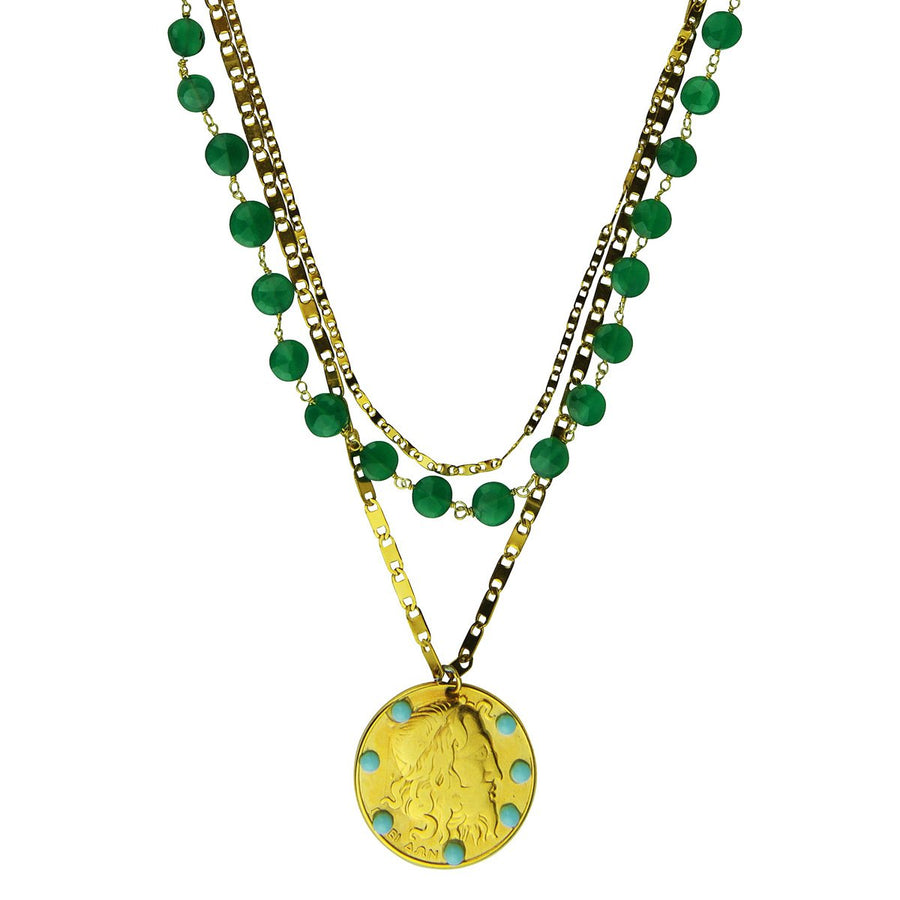 Amore Chain Necklace with Jade