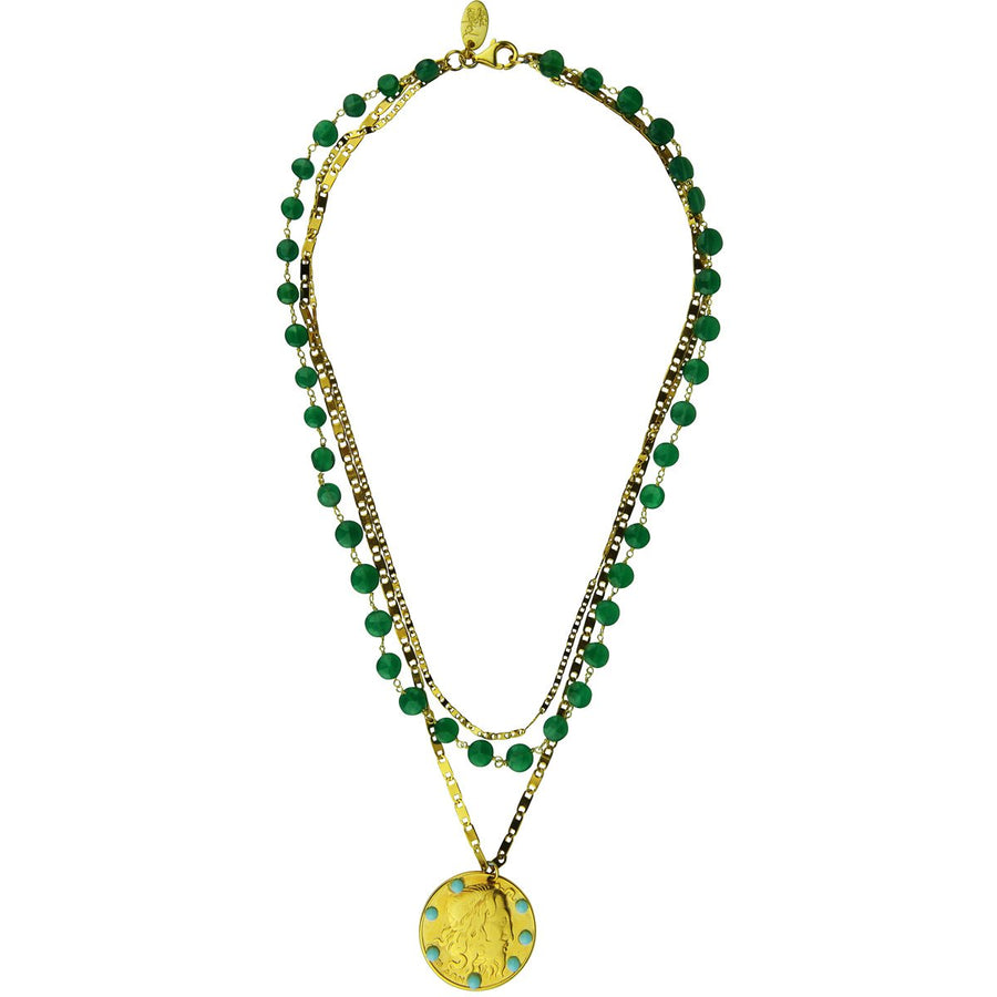 Amore Chain Necklace with Jade Katerina Psoma