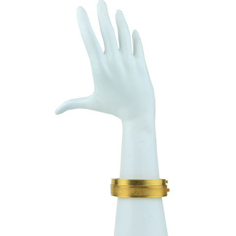 Cyclos Gold Plated Metal Cuff Bracelet