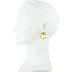 Cyclos Gold Plated Brass Small Hoops