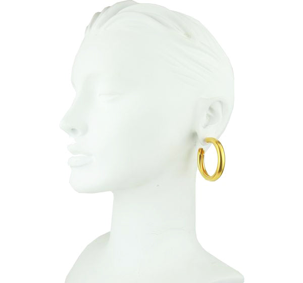 Cyclos Gold Plated Metal Hoops Earrings