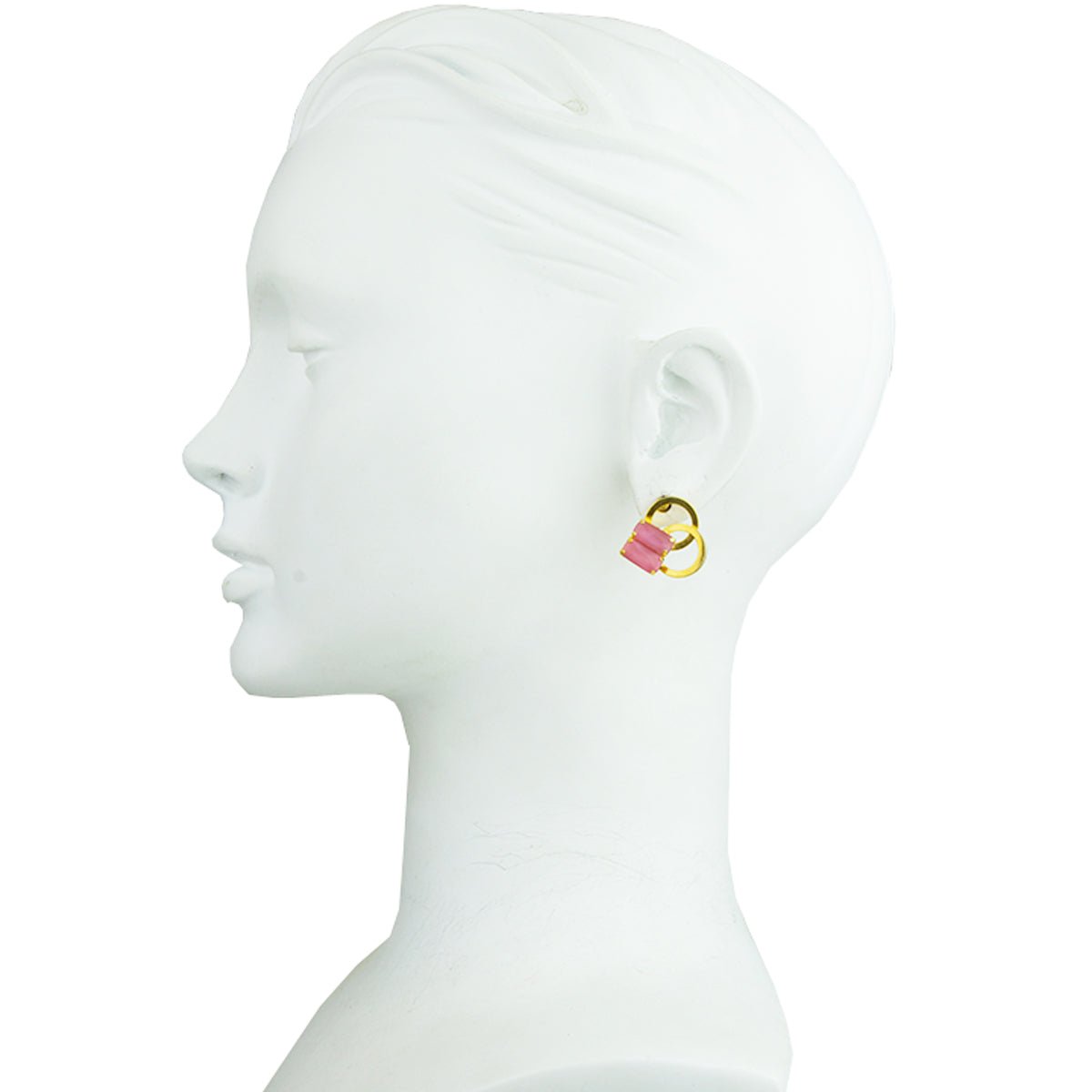 Betty Gold Plated Vintage Crystal Earrings