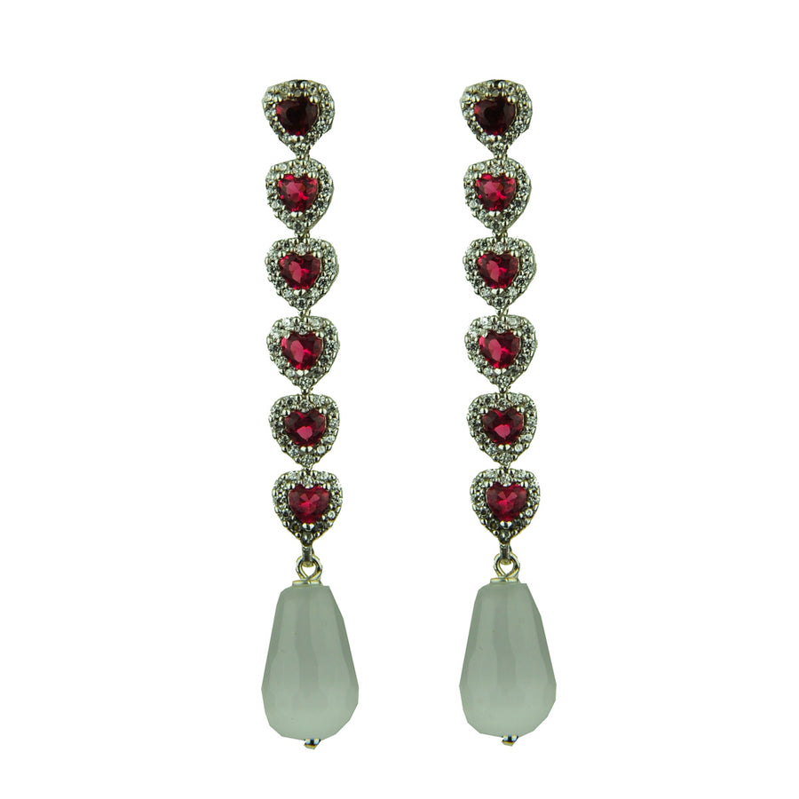 Dangle Earrings with Faceted Drops katerina psoma