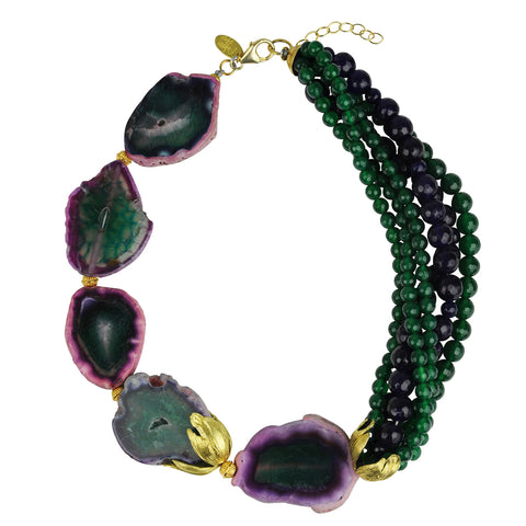 Green Agate Short Statement Necklace katerina psoma