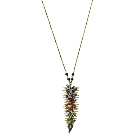 Crystal Pendant Chain Necklace katerina psoma