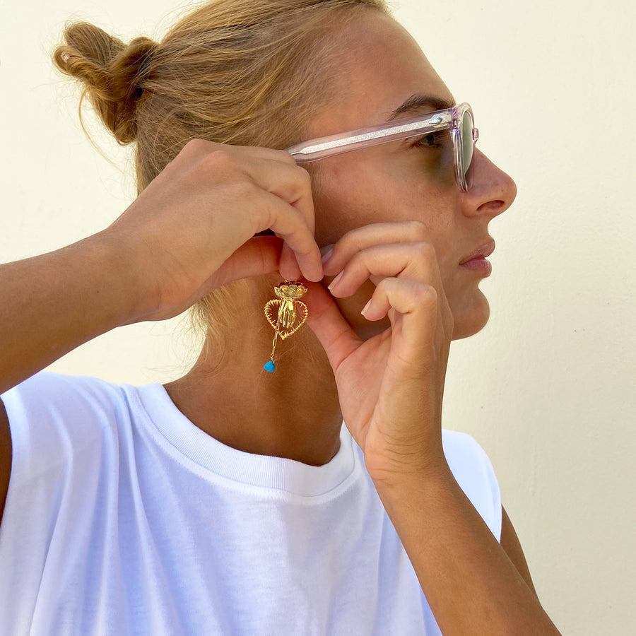 Unmatched Hook Earrings with Charms Katerina psoma