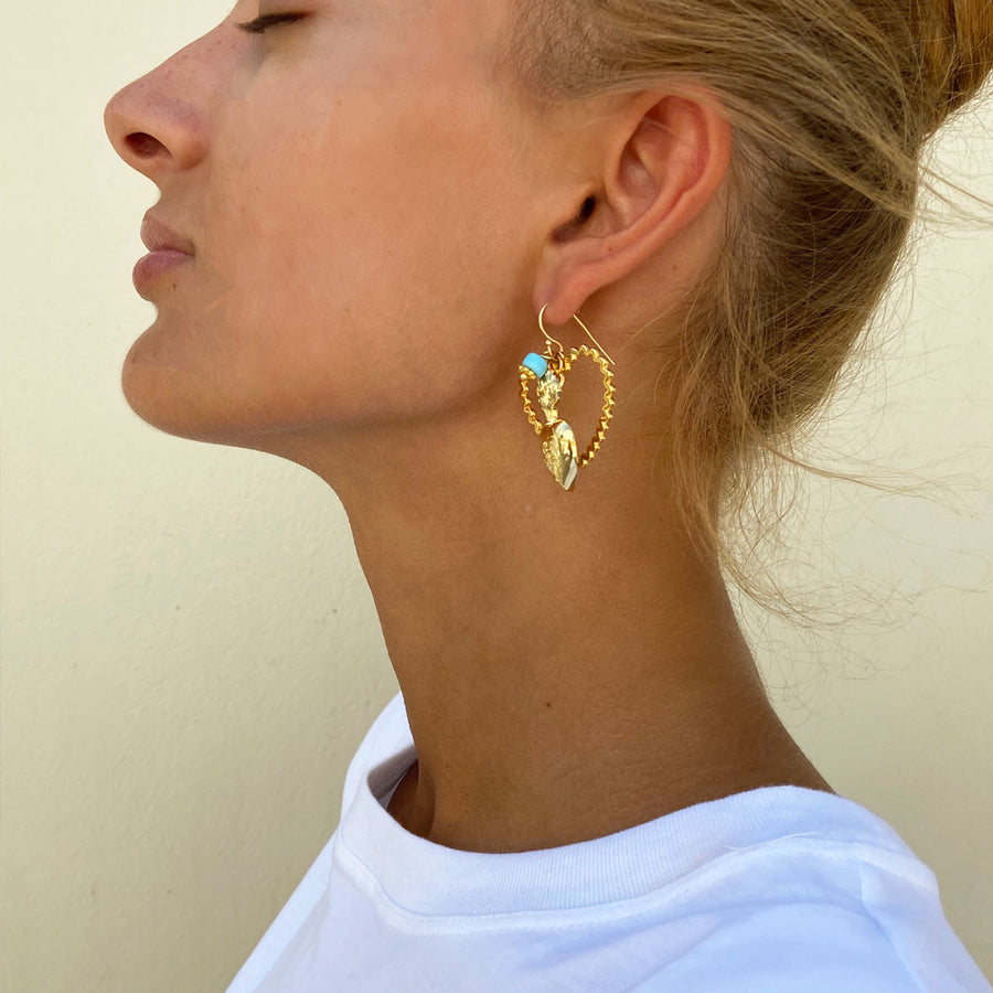 Unmatched Hook Earrings with Charms Katerina psoma demi fine