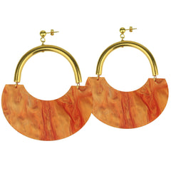 Memphis Orange Acrylic Earrings