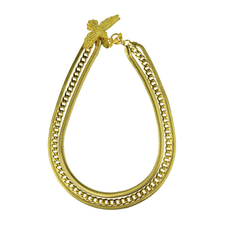 Katerina Psoma  Short Triple Vintage Chain Necklace