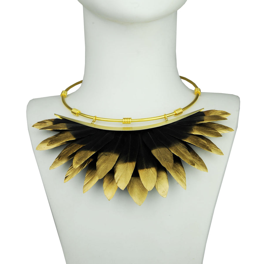 black gold collar bust