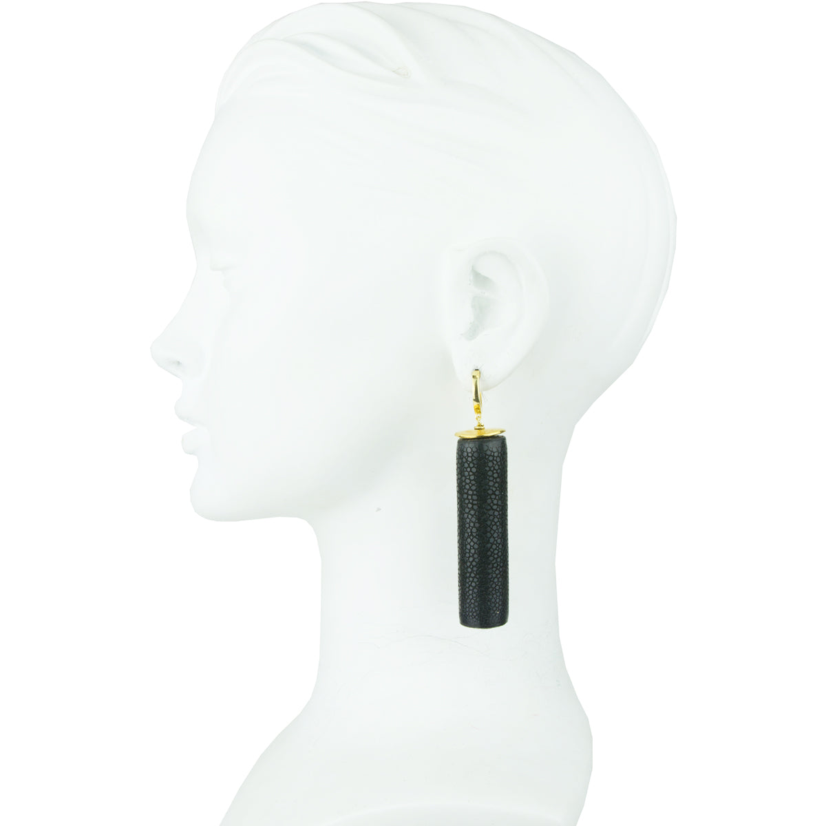 gold plated 925 silver hoops with black tubes katerina psoma perfect for day wear