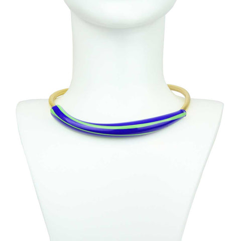 Oshun Murano Gold Plated Metal Collar Necklace