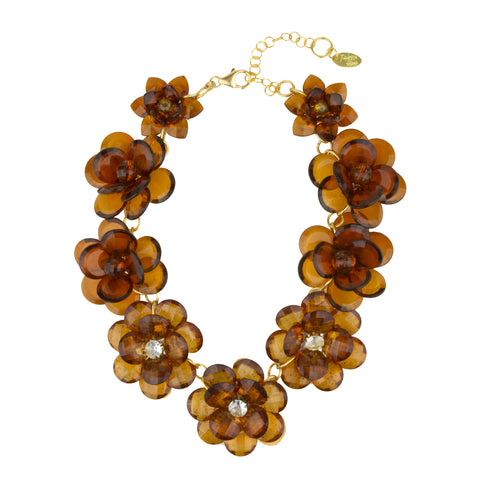 Sylvia Tortoise Flower Short Necklace