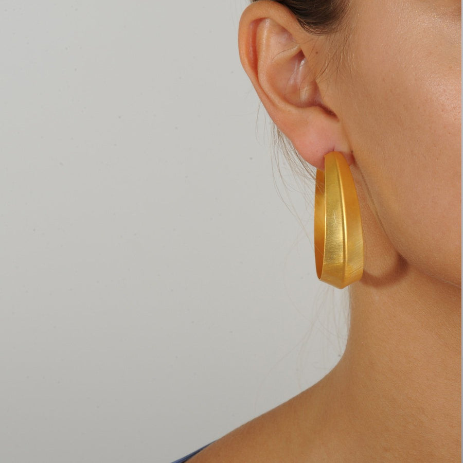 Gold Plated Metal Hoops big katerina psoma detail