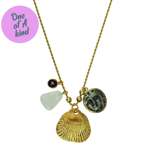 Lucilla Short Pendant Chain Necklace