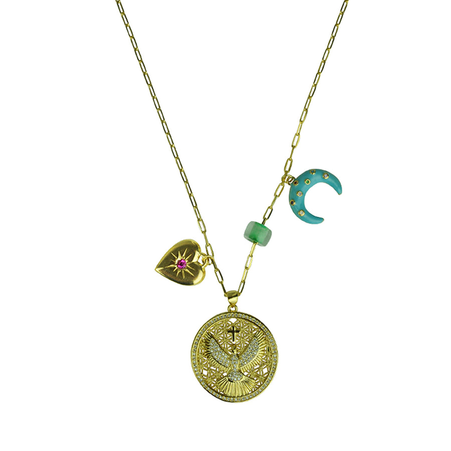 Katerina Psoma Short Chain Necklace With Charms