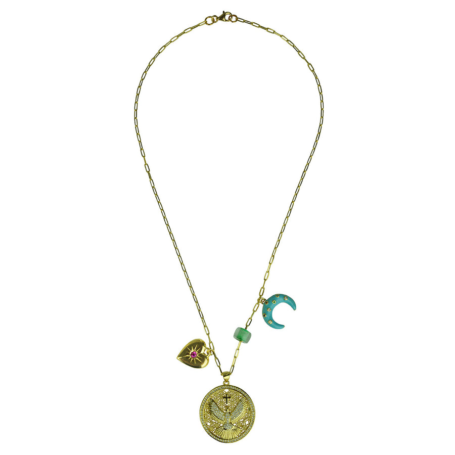 Katerina Psoma Short Chain Necklace With Charms costume jewelry