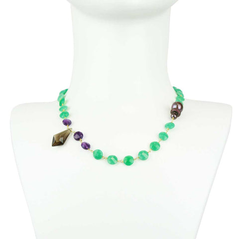 Lauren Chrysoprase Short Necklace