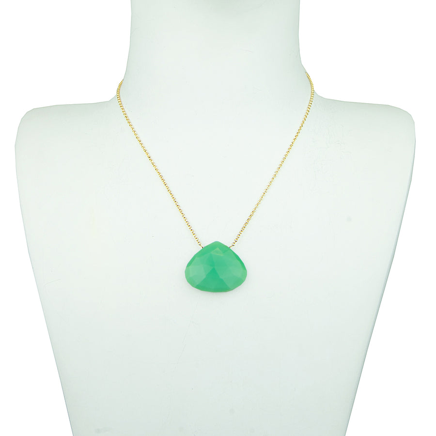 fine necklace with semiprecious chrysoprase stone katerina psoma
