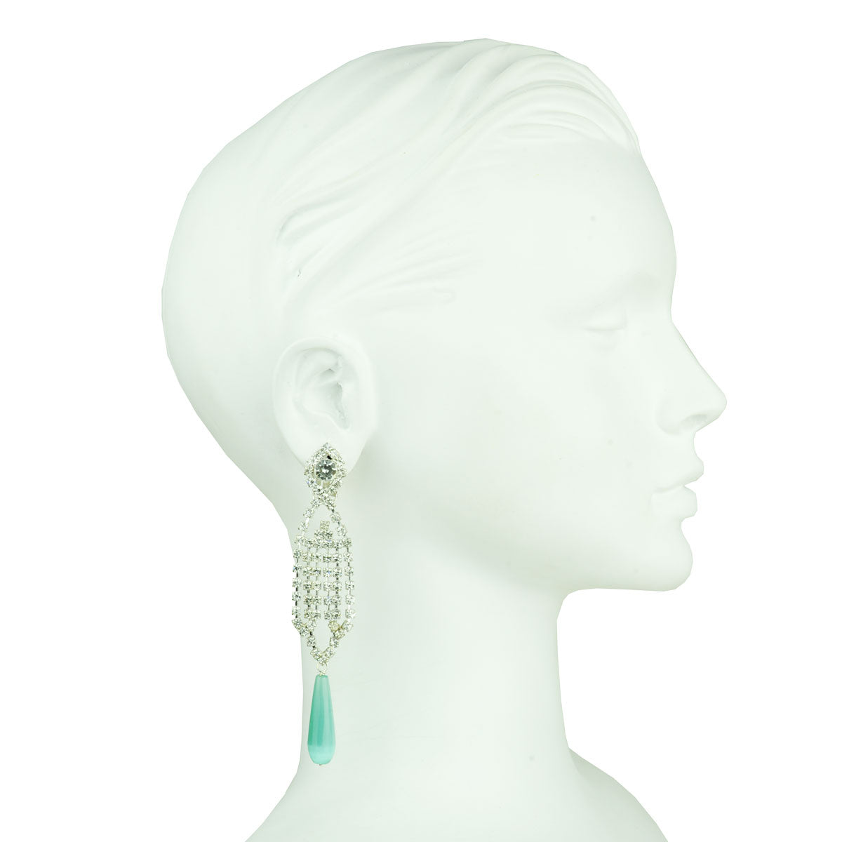 Eleanor Crystal Clip Earrings