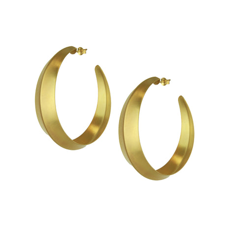 Cyclos Gold Plated Metal Hoops
