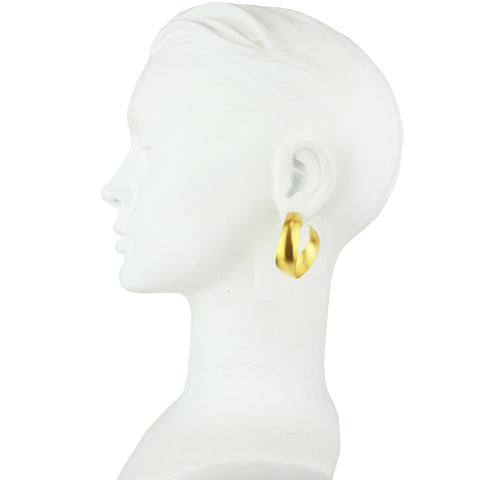 Cyclos Gold Plated Metal Medium Hoops Earrings