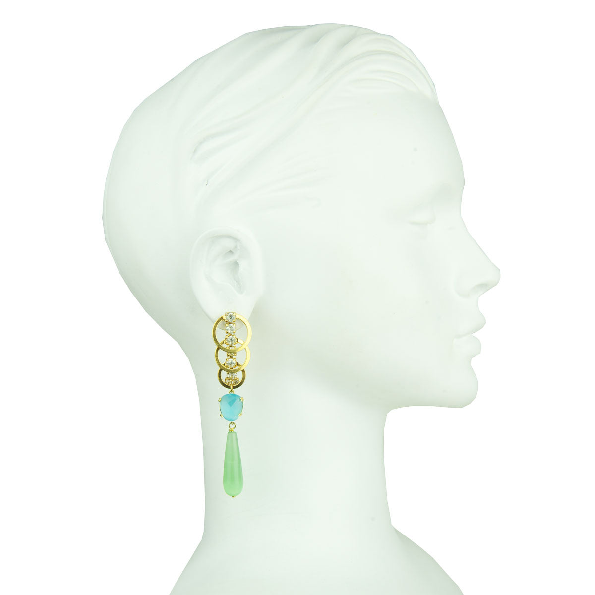 Eleanor Cat's Eye Dangle Earrings