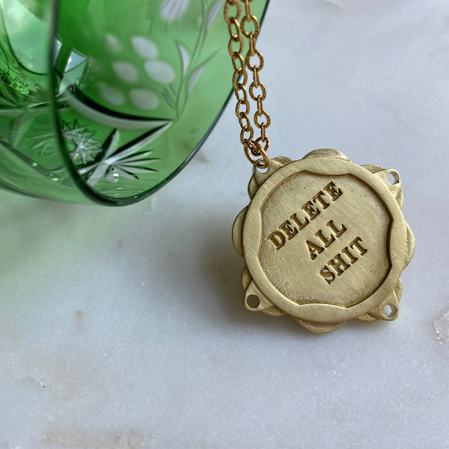 Katerina Psoma Good luck Charm necklace gold plated