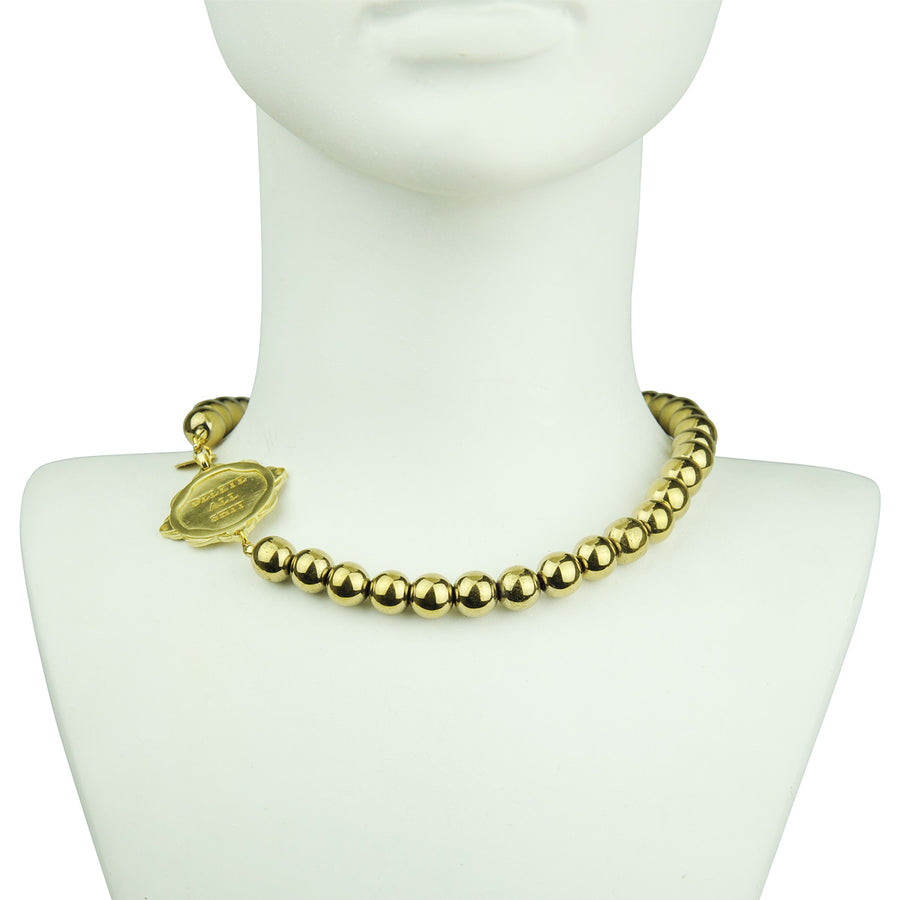 Katerina Psoma Short Necklace with Pyrite detail