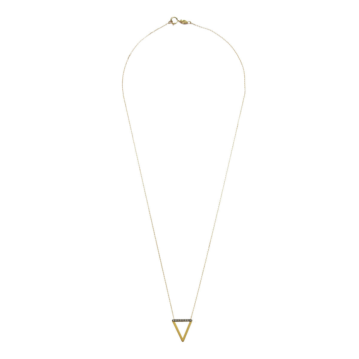 Tinos 9 kt Gold Necklace with Diamonds