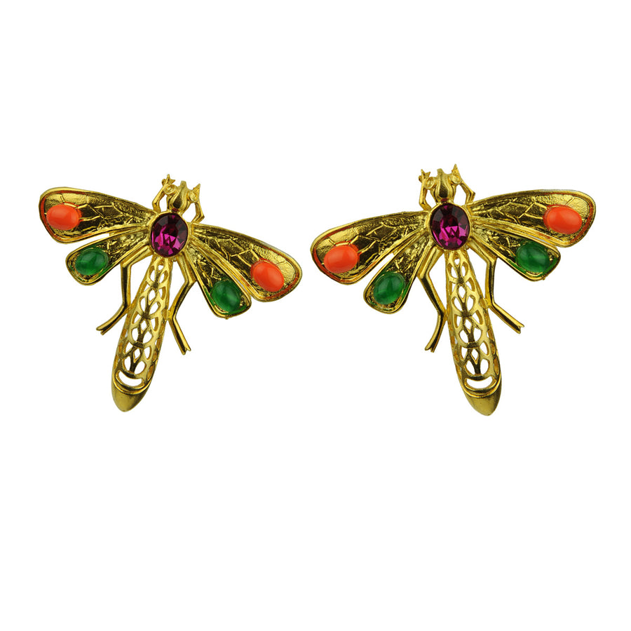 Katerina Psoma Dragonfly Clip Earrings