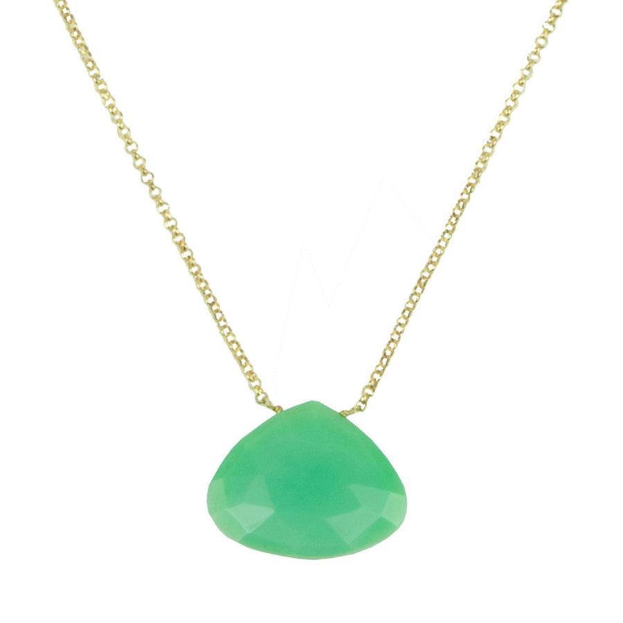 chrysoprase drop short gold plated chain necklace katerina psoma