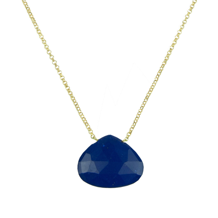 lapis lazuli short chain gold plated necklace katerina psoma