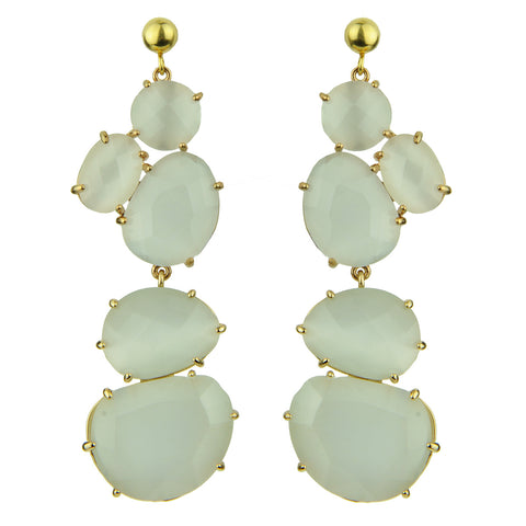 White Cat's Eye Dangle Earrings katerina psoma