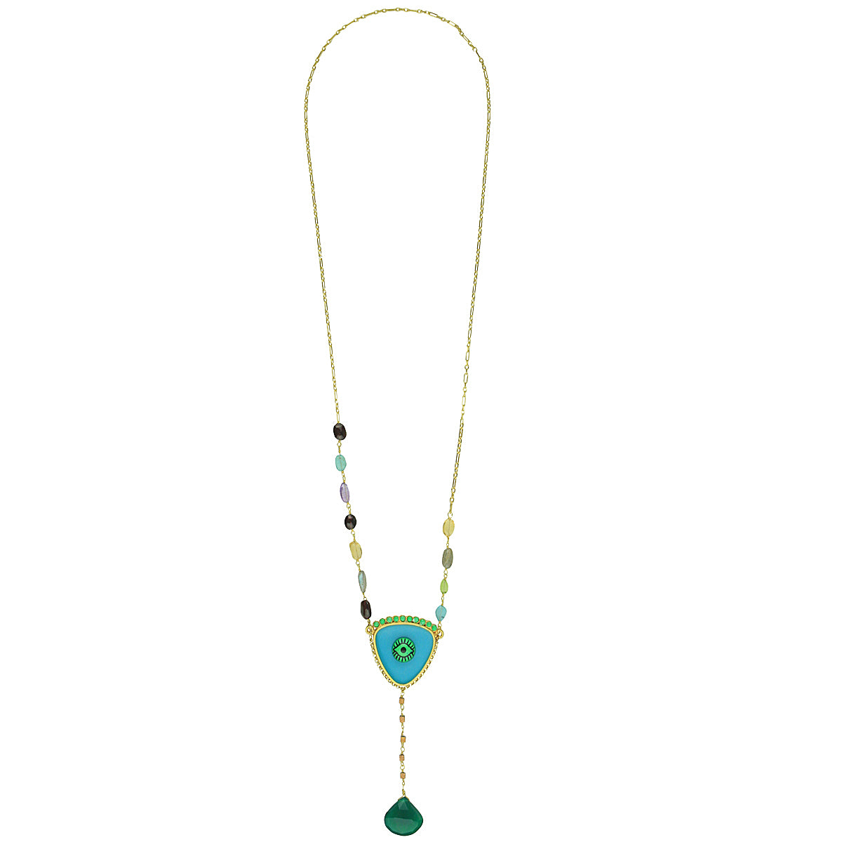 long turquoise evil eye necklace katerina psoma
