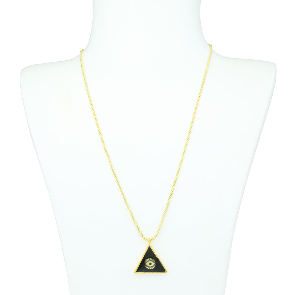 "Katerina Psoma x Zeus+Dione  ""Tyche"" Black Enamel Evil Eye Short Necklace"