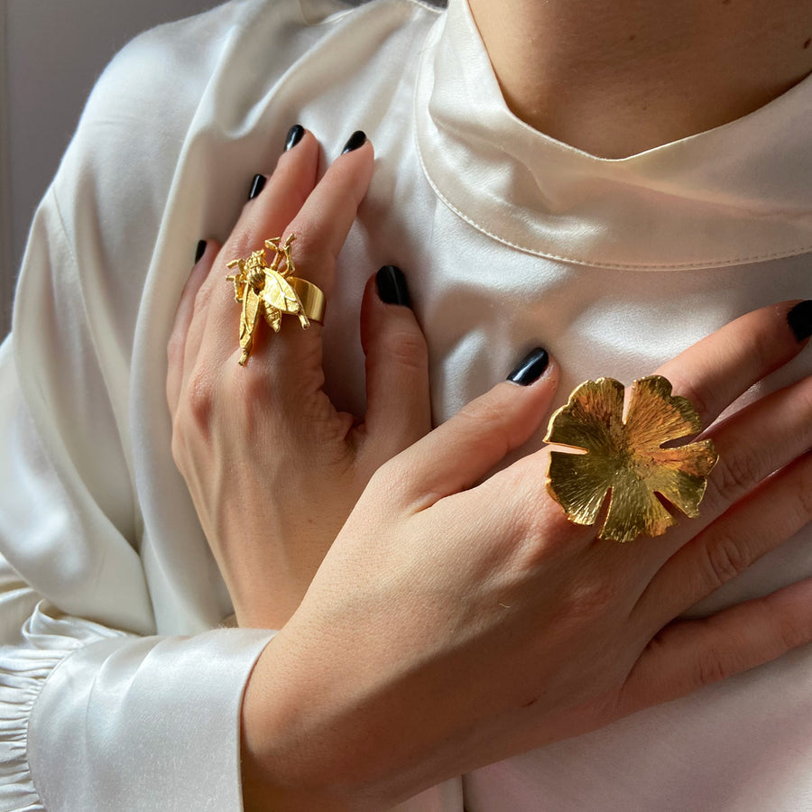 Katerina Psoma Flower Gold Plated Ring