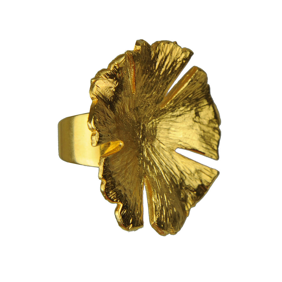Katerina Psoma Flower Gold Plated Ring detail