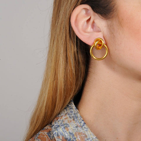 gold plated brass hoops small katerina psoma
